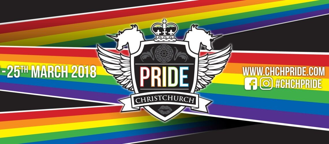 Christchurch Pride – 15 to 25 March 2018