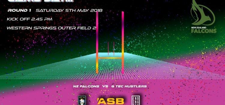 2018 Rnd 1 / NZ Falcons Vs GTec Hustlers – 5 May 2018 – Auckland