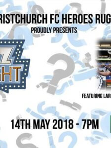 Heroes Rugby Quiz Night – 14 May 2018